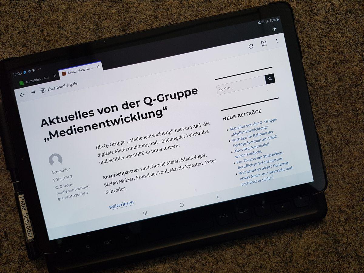 """Aktuelles von der Q-Gruppe """"Medienentwicklung"""""""